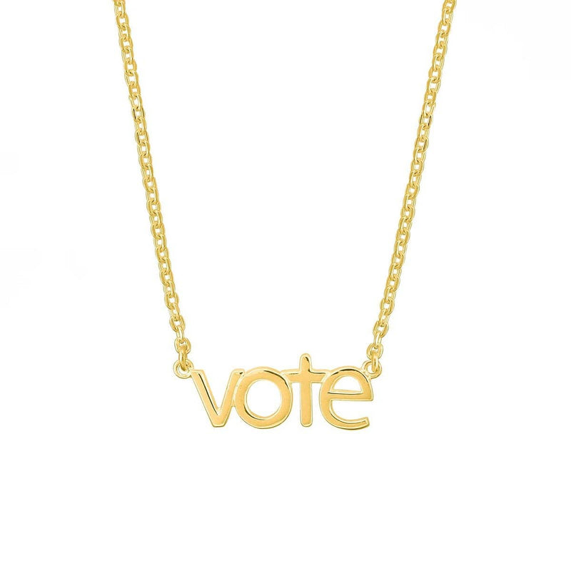 Gold Voting Necklace