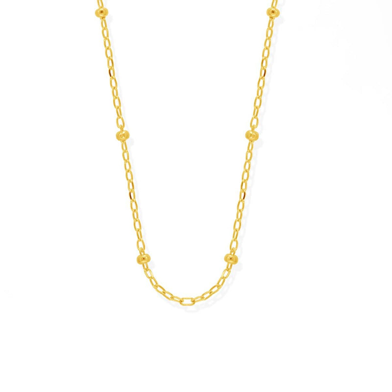 "boma new- gold vermeil 16"" bead chain necklace"