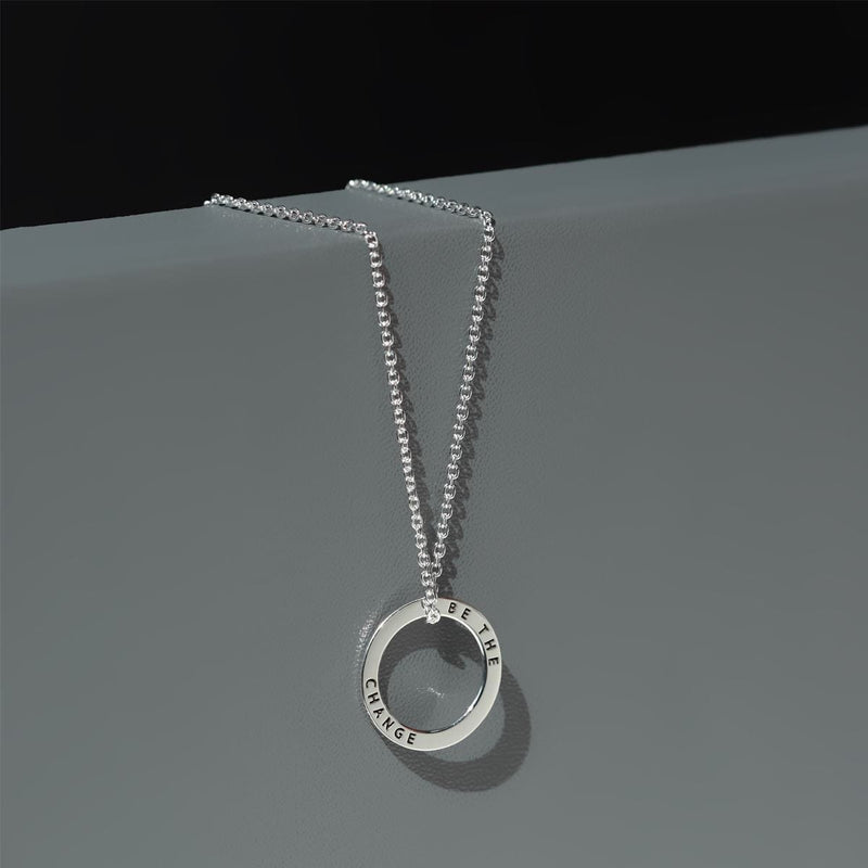 boma new-Be the change silver necklace