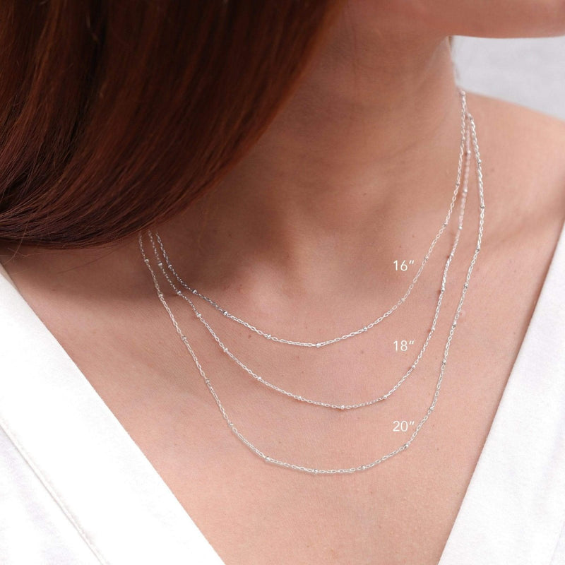 boma new- Sterling silver bead chain necklace