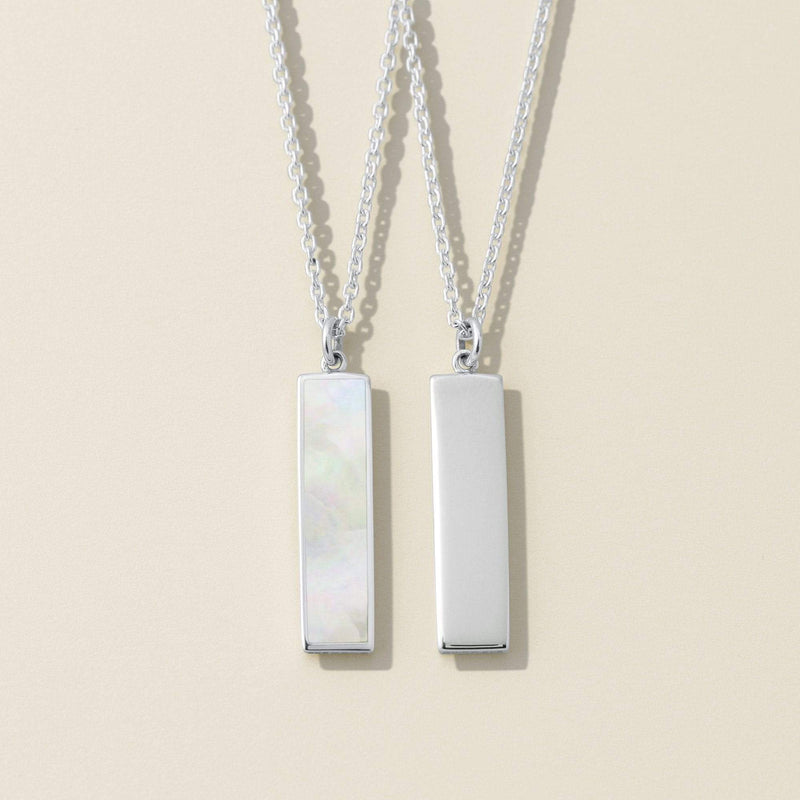 Belle Two Way Necklace with White Mother of Pearl