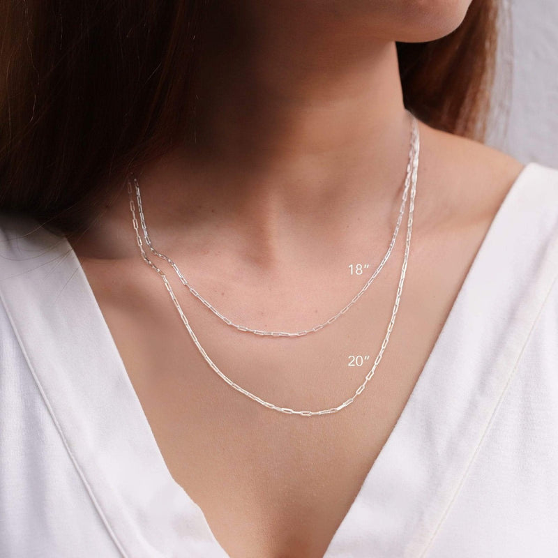 boma new- Sterling Silver Cable Chain Necklaces