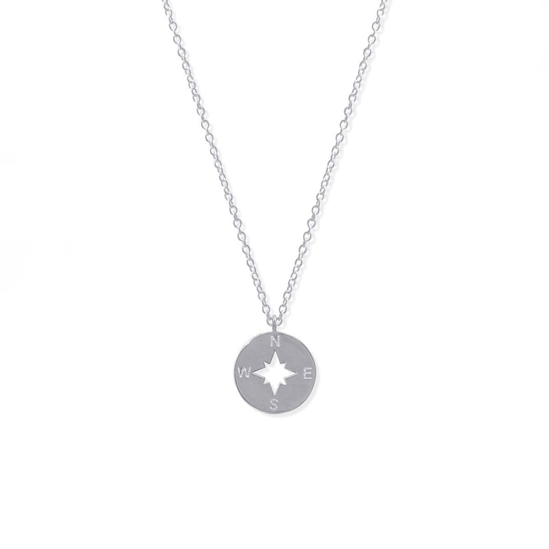 Boma New- Sterling Silver Compass Necklace