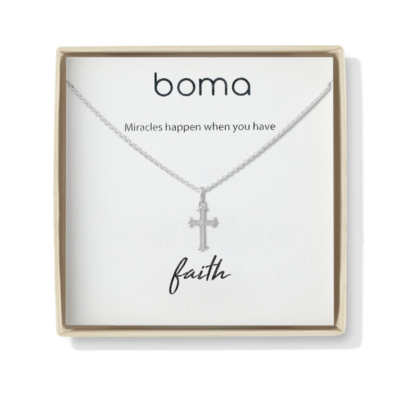 Boma New Necklaces Cross Sterling Silver Two way Silver fleur de lis Necklace