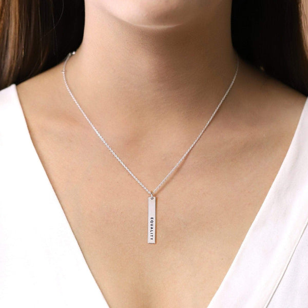 Boma New Necklaces Equality Bar Sterling Silver Necklace