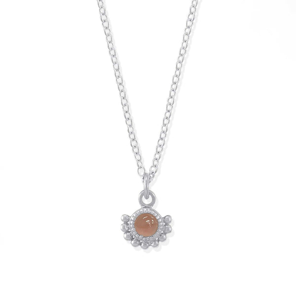 Boma New Necklaces Lily Pink Jade Sterling Silver Necklace