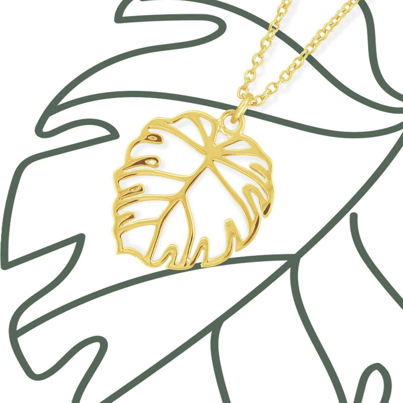 Boma New Necklaces Monstera Leaf Necklace