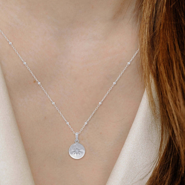 boma new Motherhood white topaz necklace