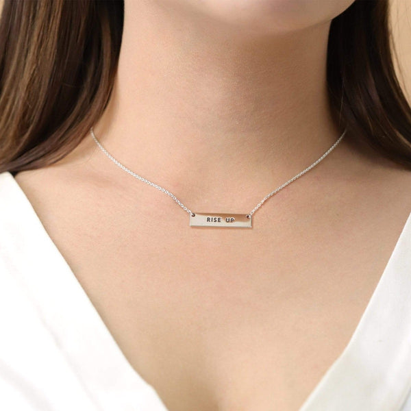 Boma New Necklaces Rise Up Bar Sterling Silver Necklace