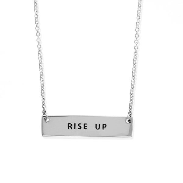boma new Rise Up Bar Sterling Silver Necklace