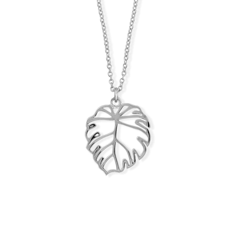 Boma New Necklaces Sterling Silver Monstera Leaf Necklace