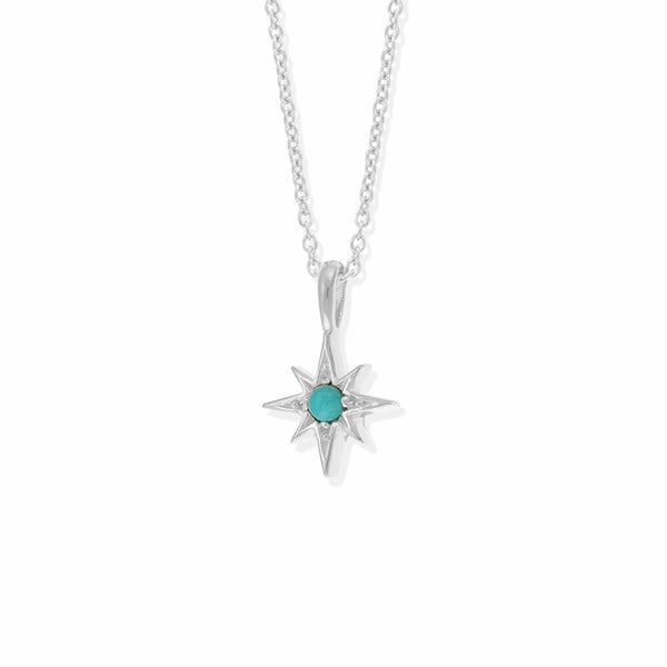Boma New Necklaces Sterling Silver with Turquoise Luna Star Pendant with Stone