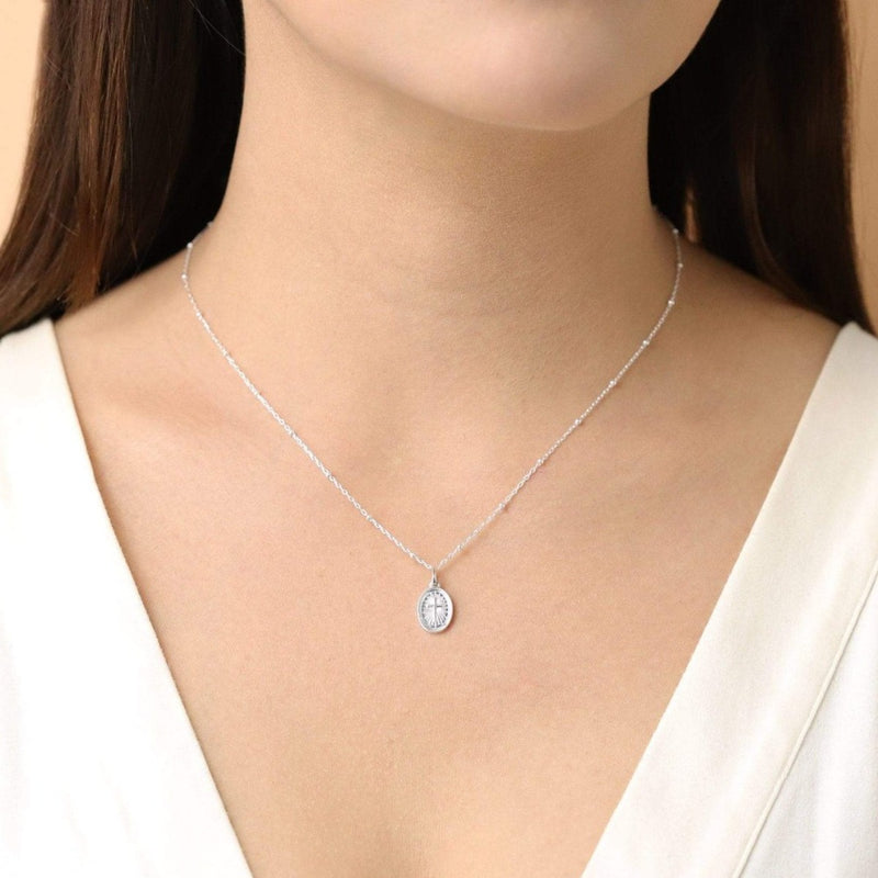 Two way Sterling Silver Petite Medallion Necklace