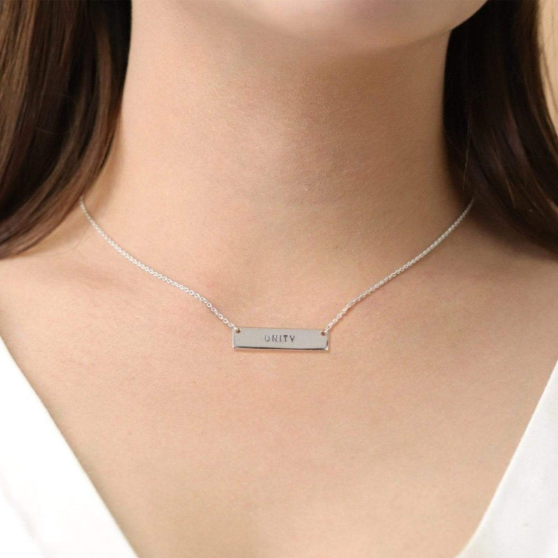 Boma New Necklaces Unity Bar Sterling Silver Necklace