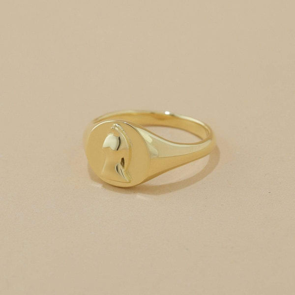 boma new- Sterling silver Aveta ring with 14k gold vermeil