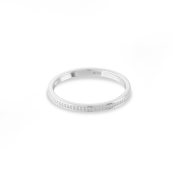 boma new -beaded sterling silver stacking ring
