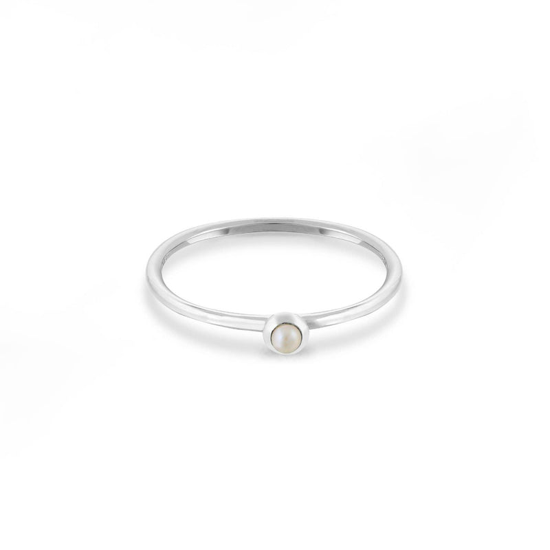Boma New Rings 7 Pearl Sterling Silver Solitare Ring