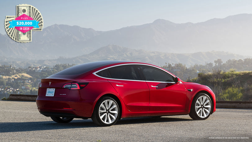 Win a Tesla Model 3 Performance with $20,000 in the Trunk