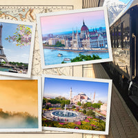 A photo of locations along the Orient Express