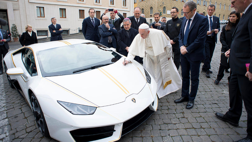 Win a One-Of-A-Kind Lamborghini® Blessed and Signed by Pope Francis