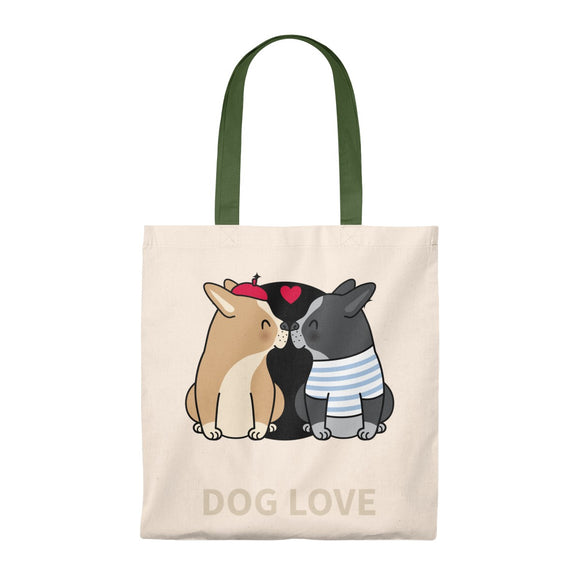 Dog Love - Vintage Tote Bag