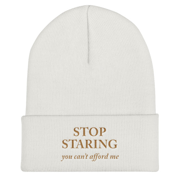 Stop staring - Cuffed Beanie
