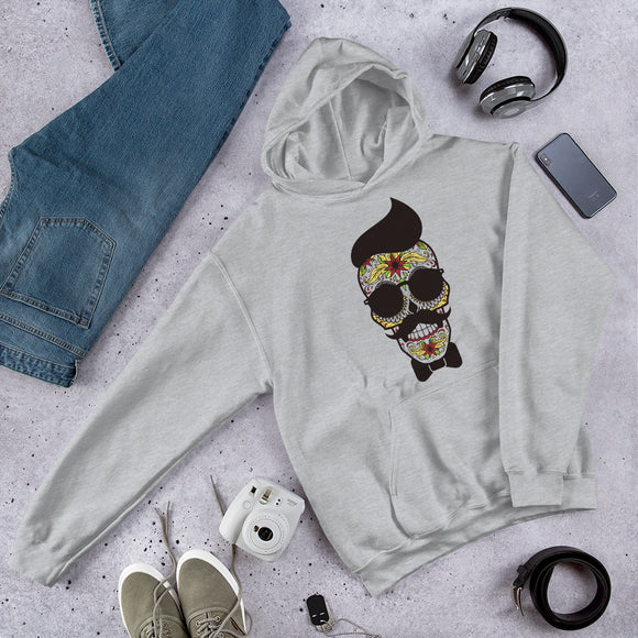 Hair skull - Hooded Sweatshirt
