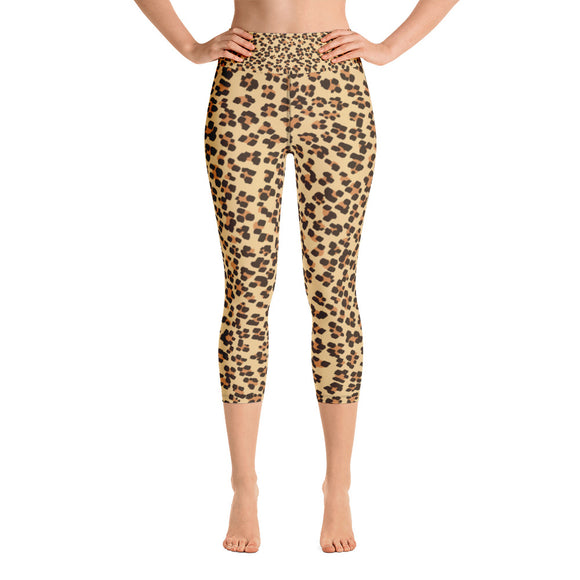Leopard - Yoga Capri Leggings