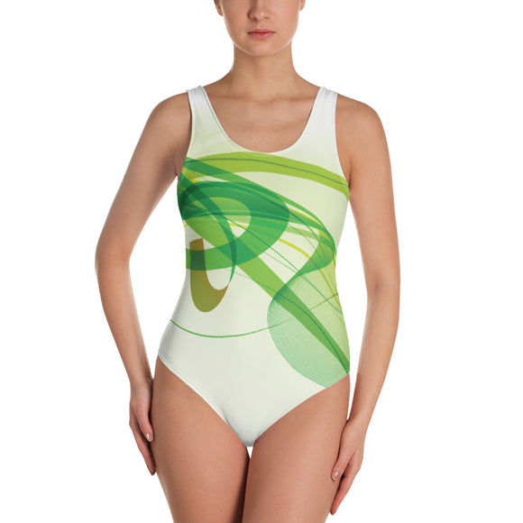 Green Abstract - Swimsuit