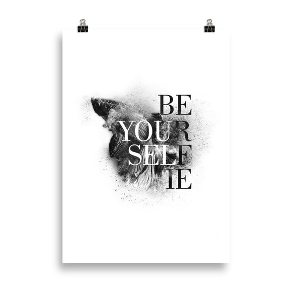 Be your self(ie) - Poster
