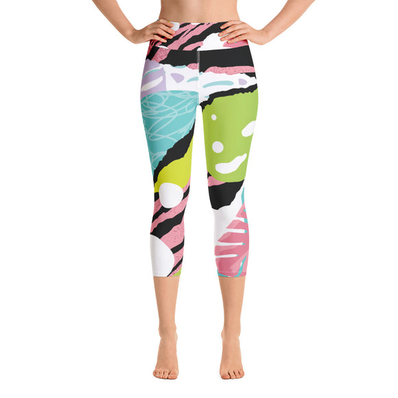 Pink Popart - Yoga Capri Leggings