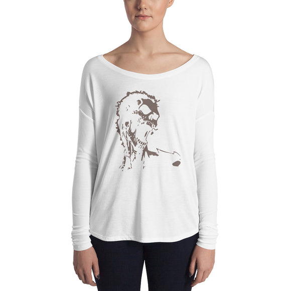Screaming scull - Ladies' Long Sleeve Tee