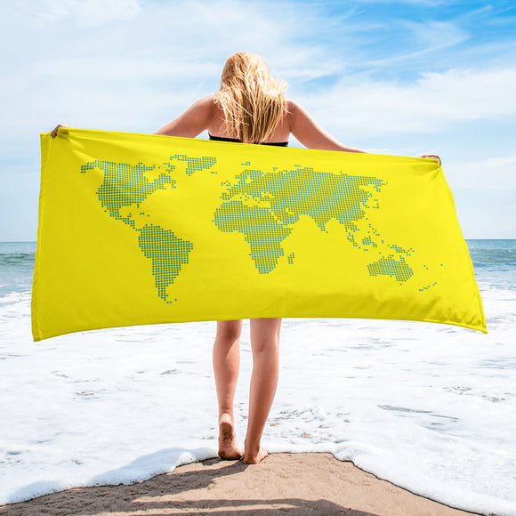 Map of the world - beach towel