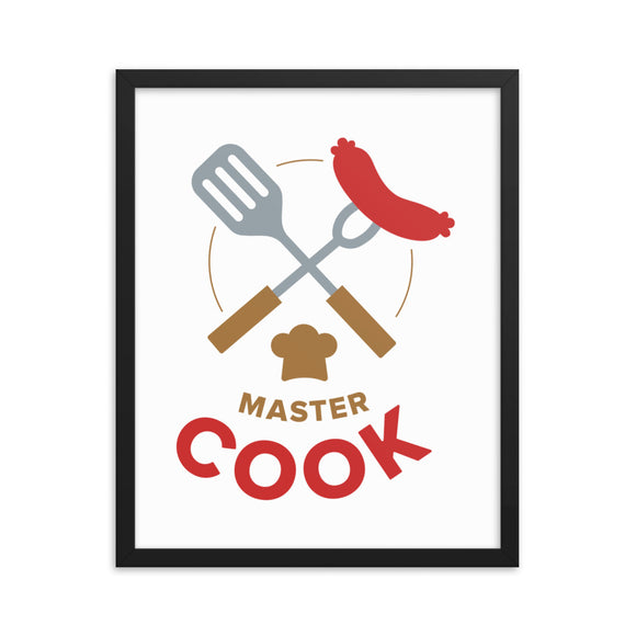 Master coock - Framed photo paper poster