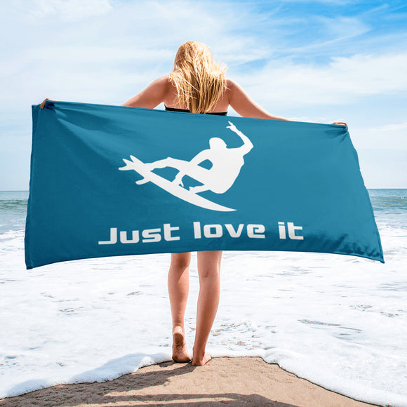 Just love it - Surfer - Beach Towel