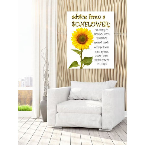 Image of Advice From A Sunflower - Canvas Wrap - Nature