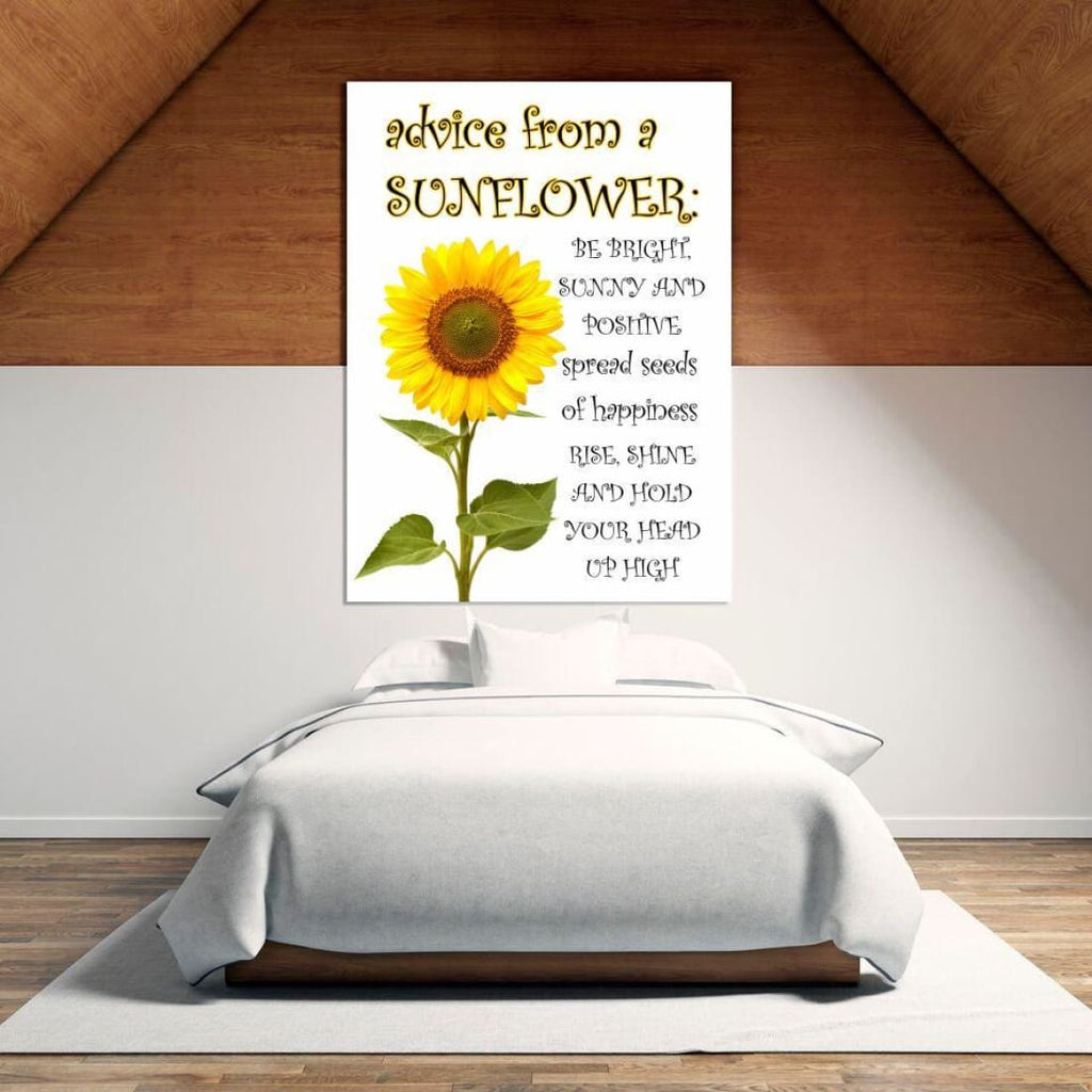 Advice From A Sunflower - Canvas Wrap - Nature