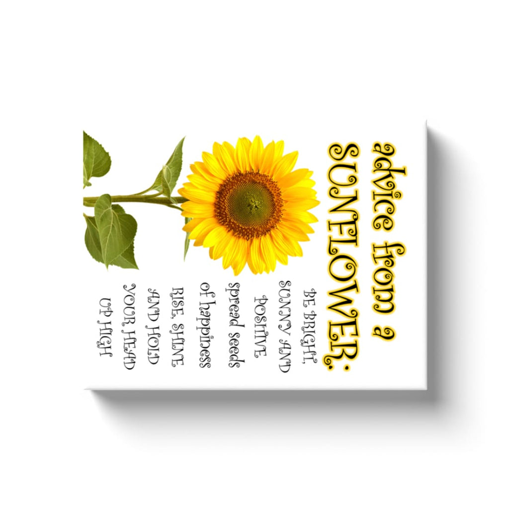 Advice From A Sunflower - Canvas Wrap - Rectangle / Image Wrap / 11x14 inch - Nature