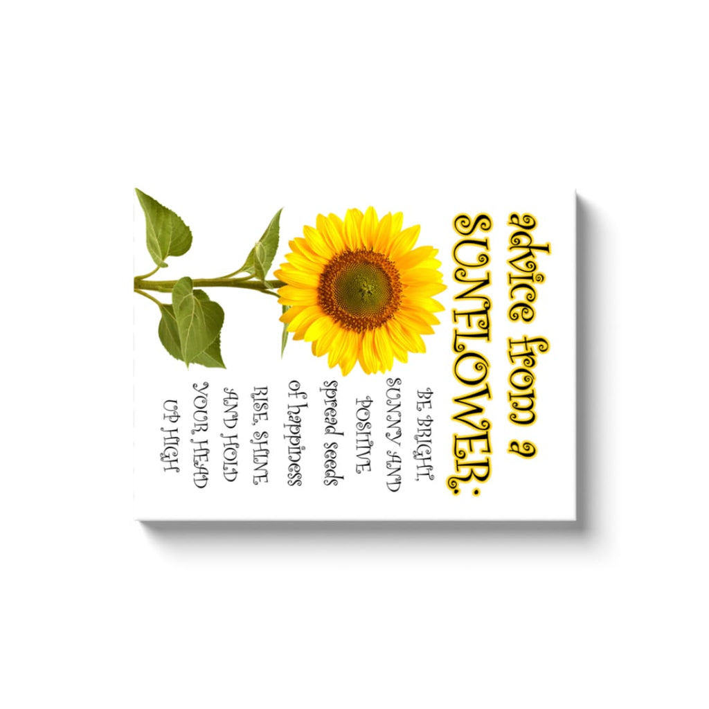 Advice From A Sunflower - Canvas Wrap - Rectangle / Image Wrap / 18x24 inch - Nature