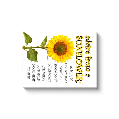 Image of Advice From A Sunflower - Canvas Wrap - Rectangle / Image Wrap / 18x24 inch - Nature
