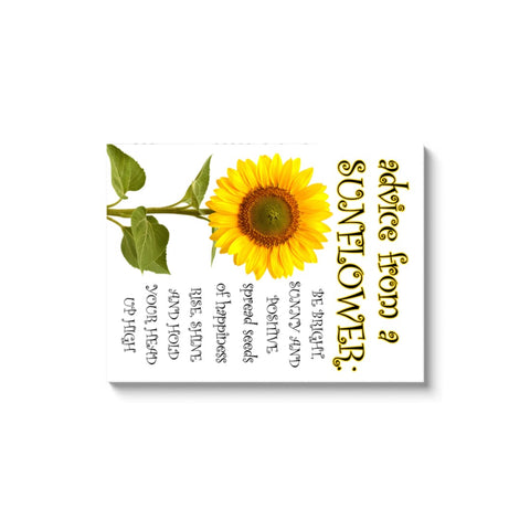 Image of Advice From A Sunflower - Canvas Wrap - Rectangle / Image Wrap / 30x40 inch - Nature
