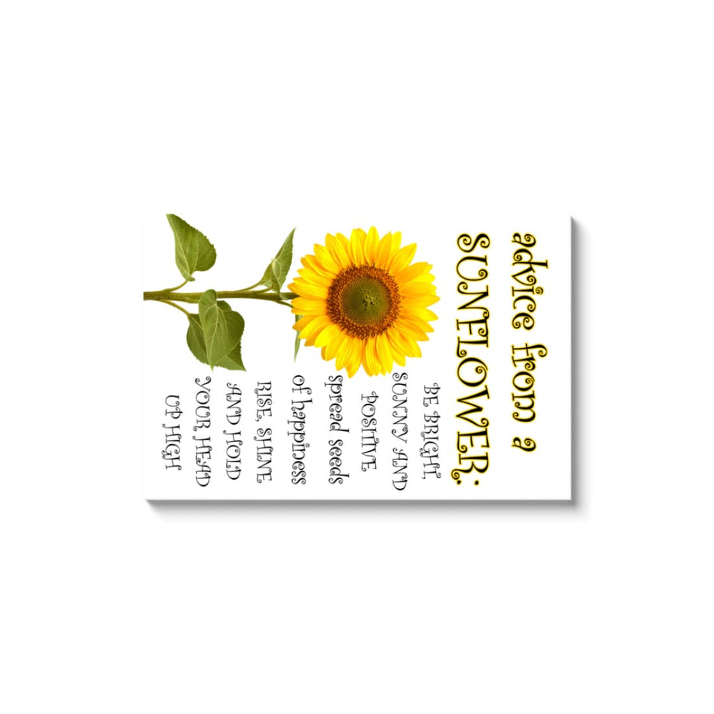 Advice From A Sunflower - Canvas Wrap - Rectangle / Image Wrap / 32x48 inch - Nature