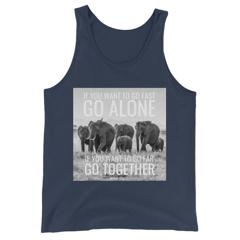 Image of If You Want To Go Far Go Alone If You Want To Go Far Go Together - Mens Tank Top - Navy / XS