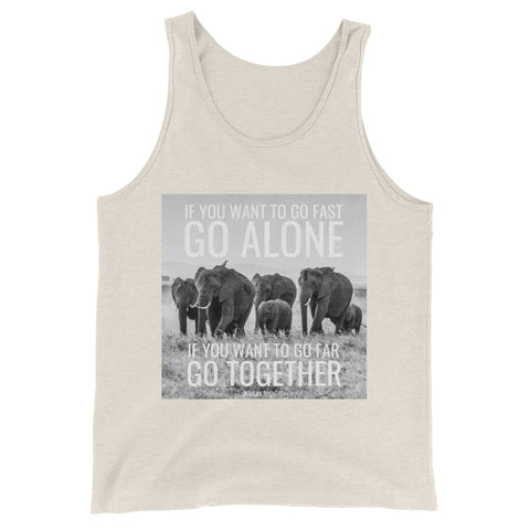 Image of If You Want To Go Far Go Alone If You Want To Go Far Go Together - Mens Tank Top - Oatmeal Triblend / XS