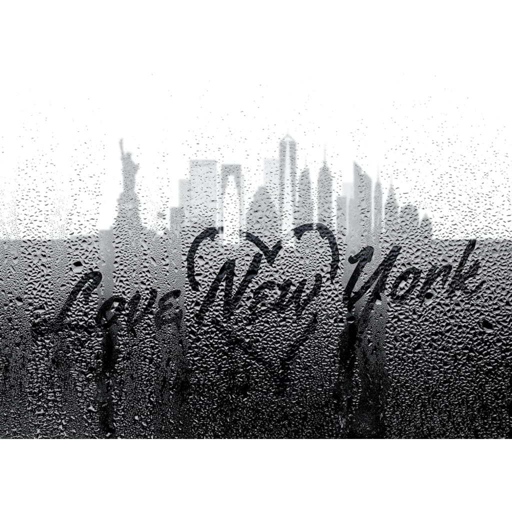 Love New York Through Rainy Window - Professional Photo Print - 5x7 inch