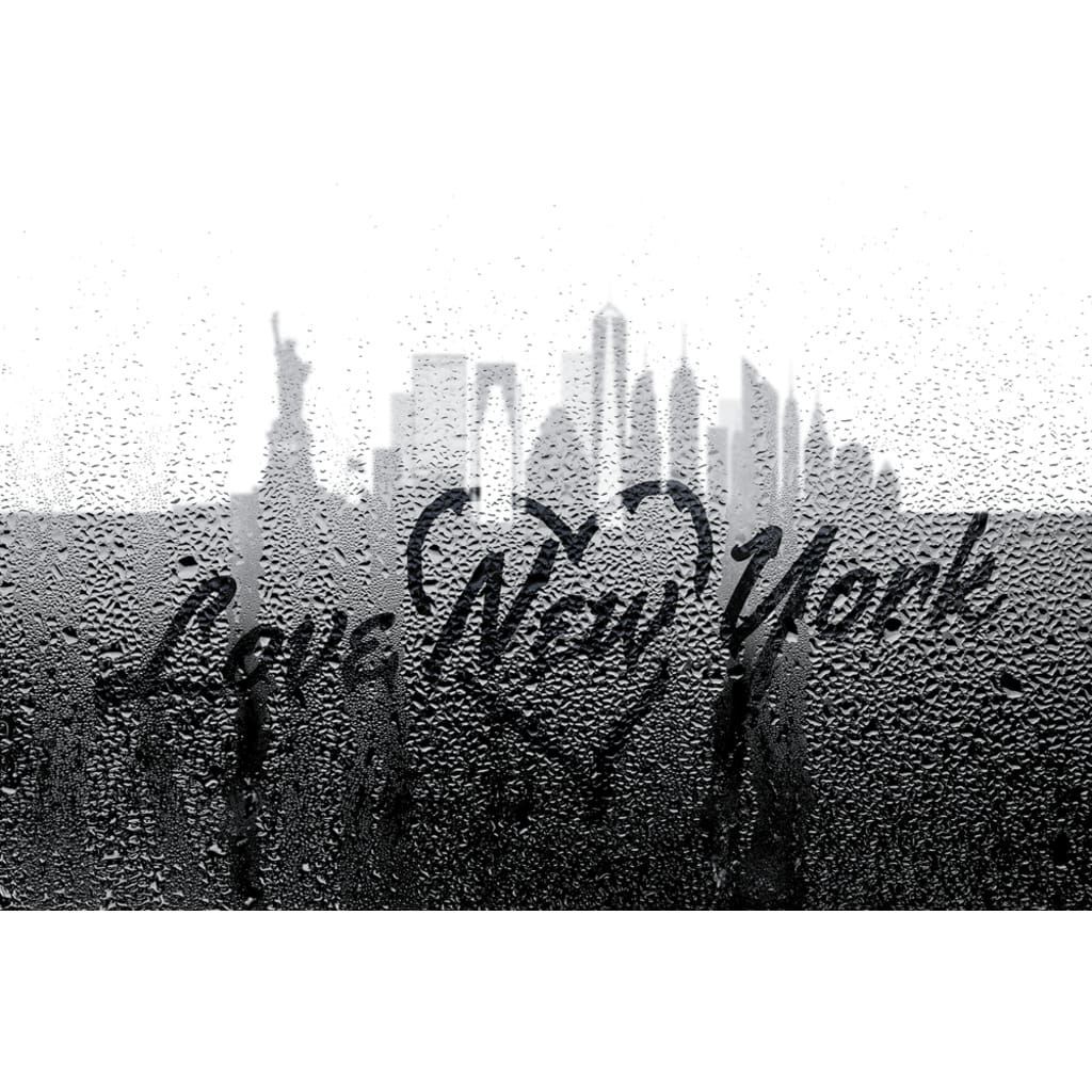 Love New York Through Rainy Window - Professional Photo Print - 6x9 inch
