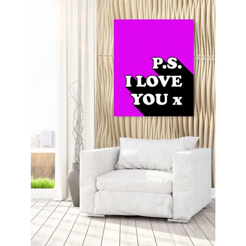 P.s I Love You x - Retro Love Typography Pop Art - Canvas Wrap - 30x40 inch