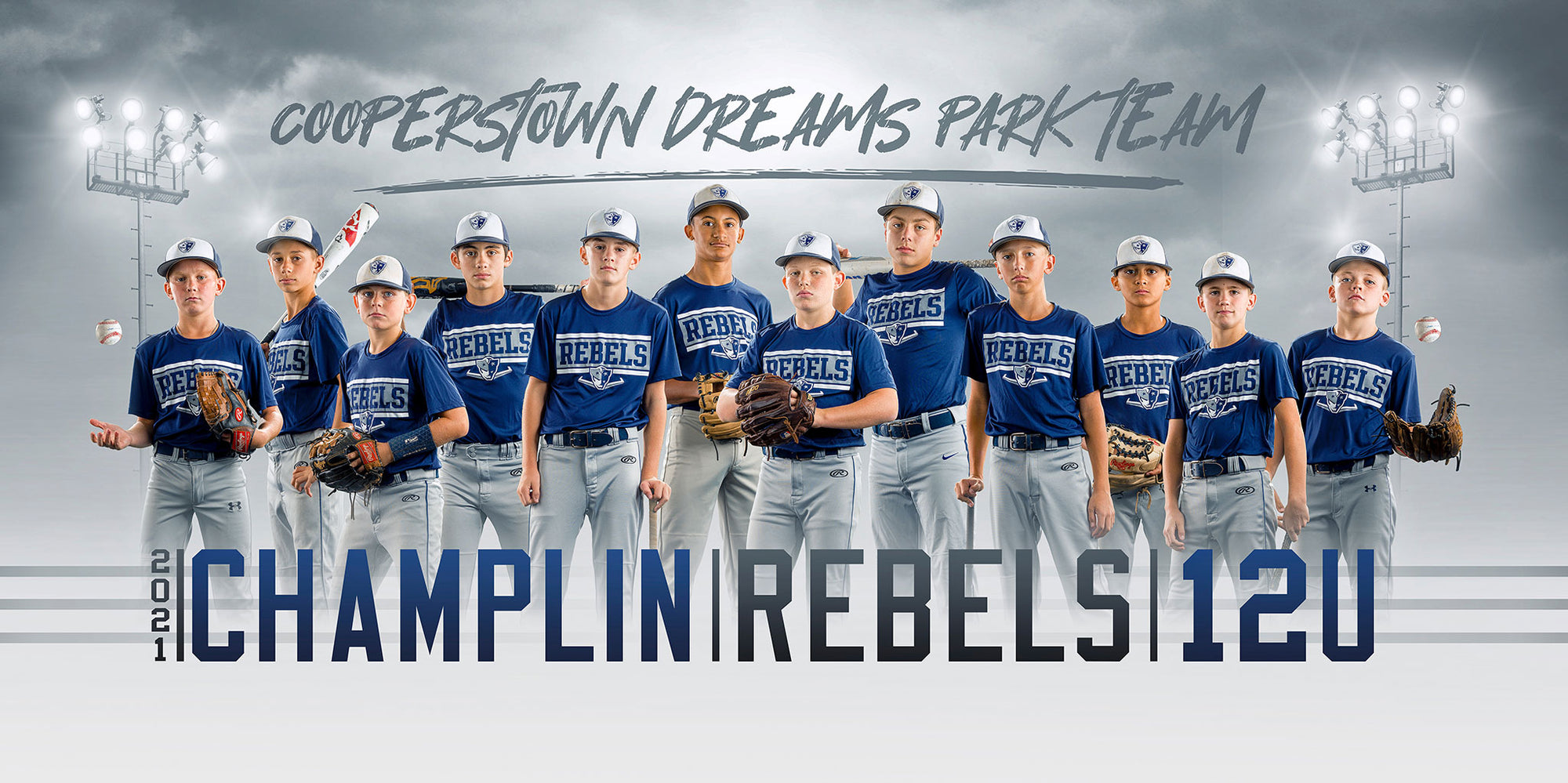 Champlin Rebels 12U Cooperstown Behind-the Scenes Photoshoot