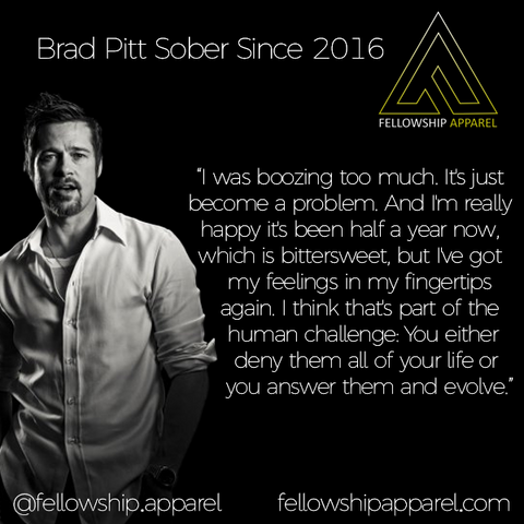 Brad Pitt Sober Apparel Recovery Clothing Sobriety Gifts Sober Jewelry AA NA Necklaces T-Shirts Hoodies Tank Tops We Do Recover Addiction Apparel Addicted Addict Mental Illness Mental Health Mental Illness Awareness Drug Free Alcoholism Alcoholic Druggie Sober Living Bill W Bill Wilson Alcoholics Anonymous CA Fellowship Apparel