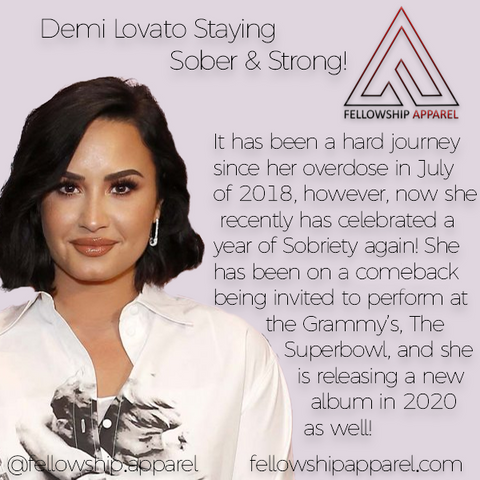 Demi Lovato Sober Apparel Recovery Clothing Sobriety Gifts Sober Jewelry AA NA Necklaces T-Shirts Hoodies Tank Tops We Do Recover Addiction Apparel Addicted Addict Mental Illness Mental Health Mental Illness Awareness Drug Free Alcoholism Alcoholic Druggie Sober Living Bill W Bill Wilson Alcoholics Anonymous CA Fellowship Apparel